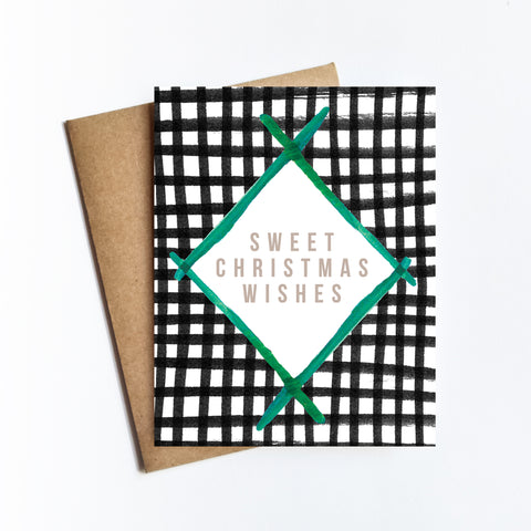 Sweet Christmas Wishes - HOLIDAY NOTECARD