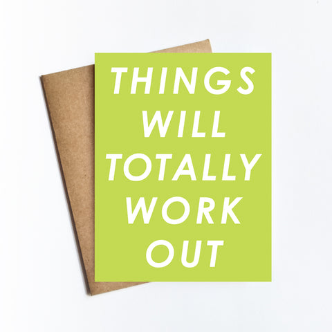 Totally Work Out - NOTECARD