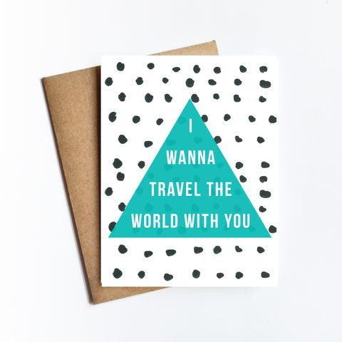 Travel The World - NOTECARD