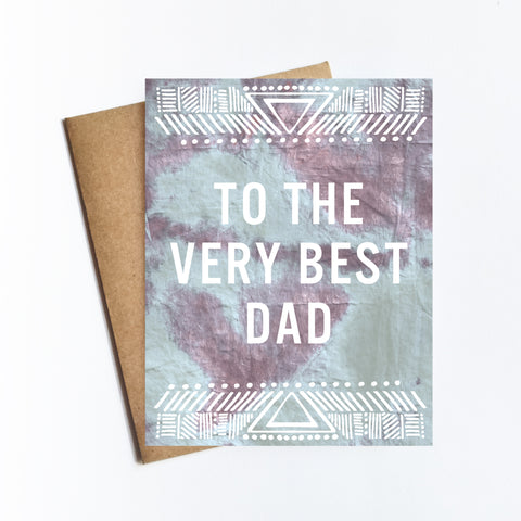 Very Best Dad - NOTECARD