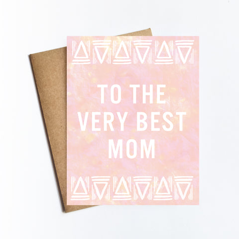 Very Best Mom - NOTECARD