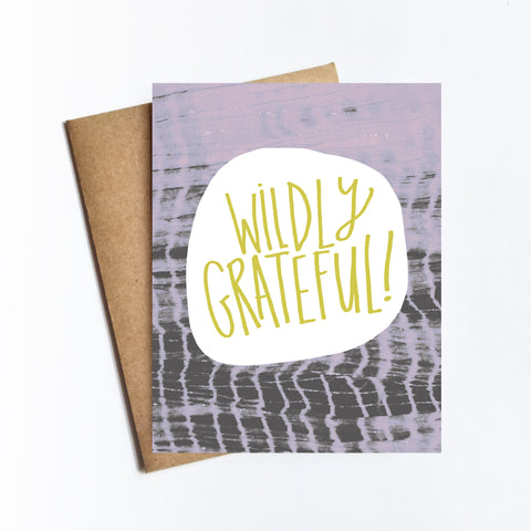 Wildly Grateful - NOTECARD
