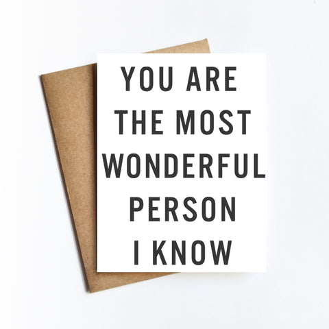 Wonderful Person I Know - NOTECARD