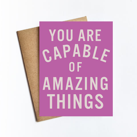You Are Capable - NOTECARD