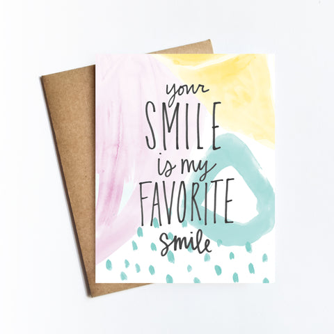 Your Smile - NOTECARD