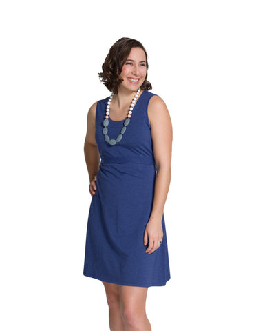 Nursing dress Laura in heather navy