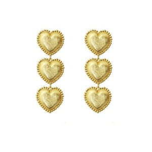 ClaudiaG 3 Gold Hearts Earrings
