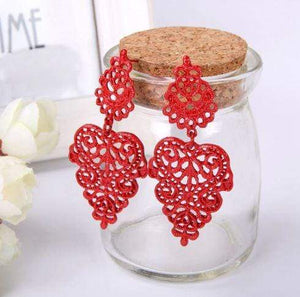ClaudiaG Agnes -Red Earrings