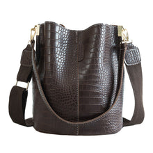 ClaudiaG Blake Shoulder Bag -Chocolate Croc