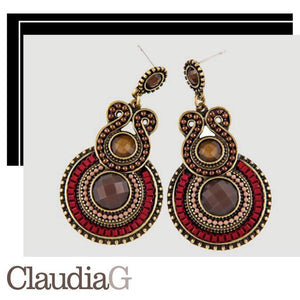 ClaudiaG Cameron Earrings -Red