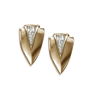 ClaudiaG Chevron Earrings- Gold
