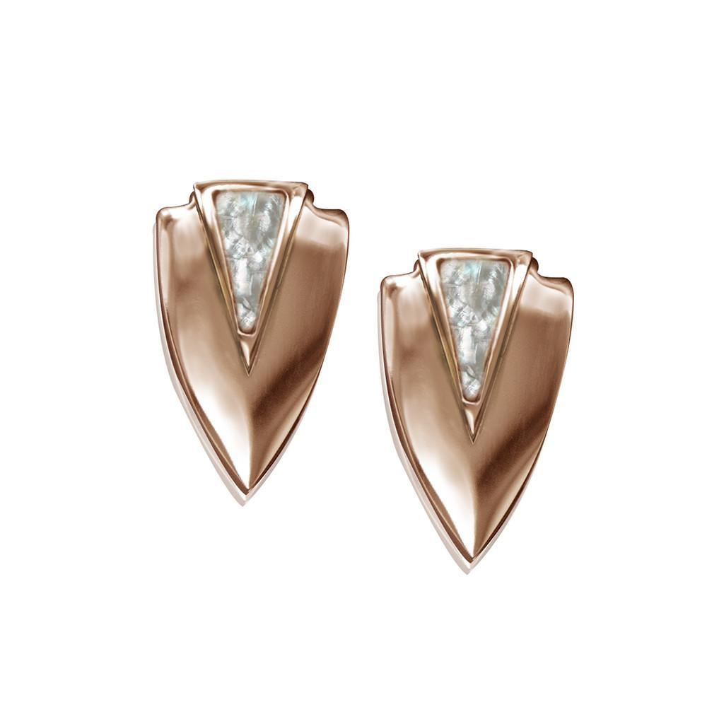 ClaudiaG Chevron Earrings- Rose