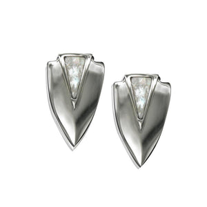 ClaudiaG Chevron Earrings- Silver