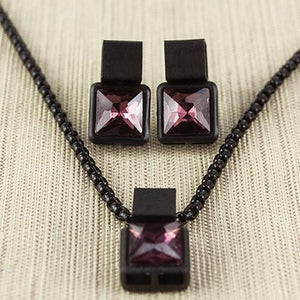 ClaudiaG Coal Necklace-Plum