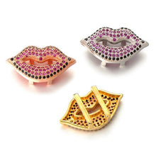 ClaudiaG Colored Stones Lips Charm