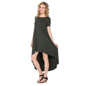 ClaudiaG Comfy Dress -Charcoal