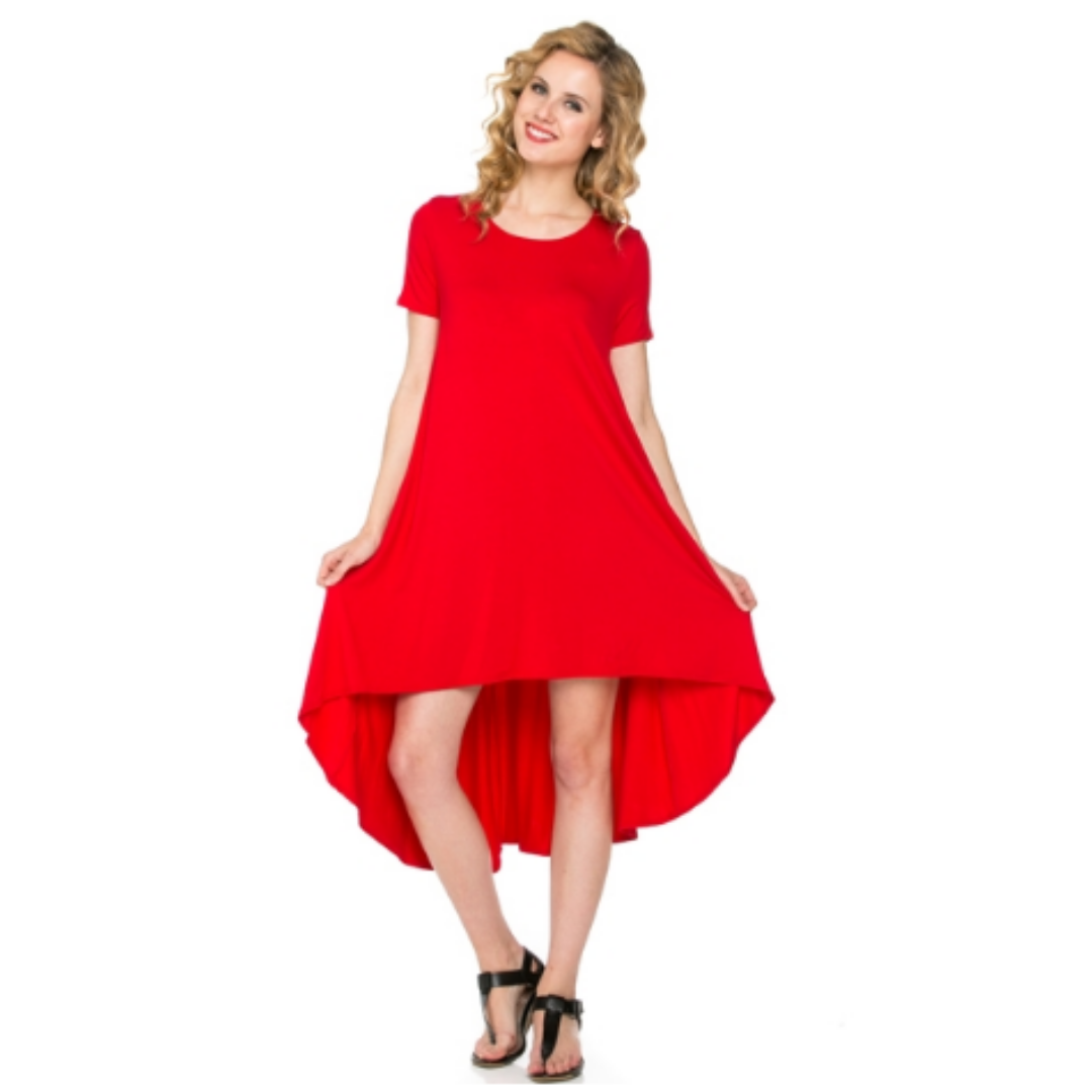 ClaudiaG Comfy Dress -Red