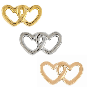 ClaudiaG Double Hearts Charm