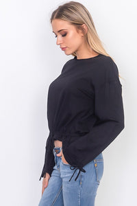 ClaudiaG Drawstring Top -Black