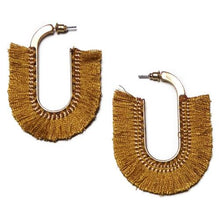 ClaudiaG Fan Earrings -Amber