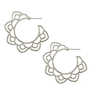 ClaudiaG Flora -Silver Earrings