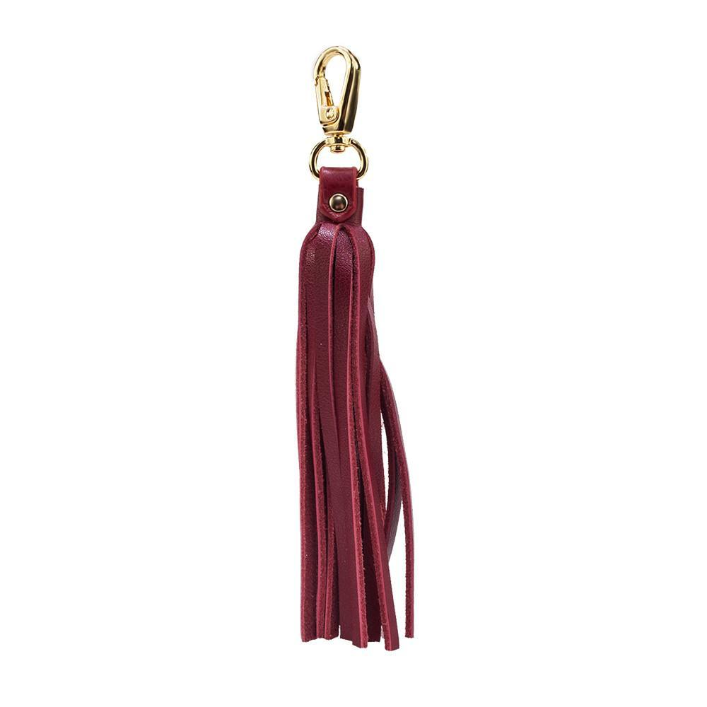 ClaudiaG Fringe Power Bag Charm-Cab/Gold