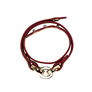 ClaudiaG Latch Bracelet - Scarlet Red