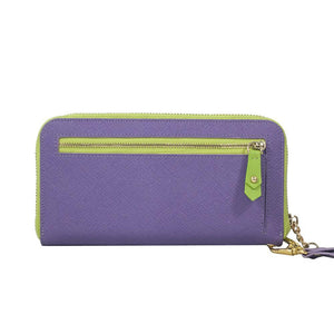 ClaudiaG Layla Wallet- Lime Green/Plum