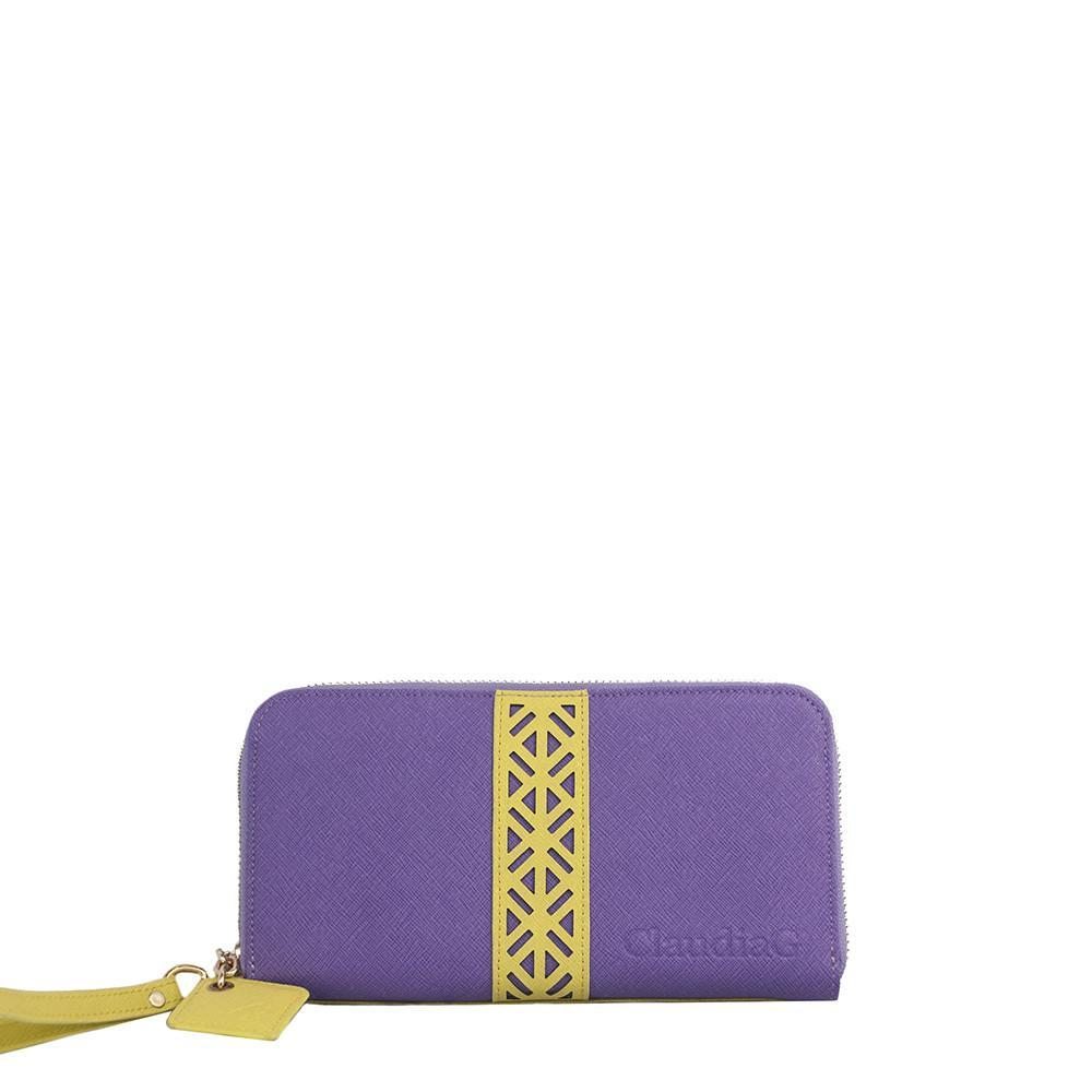 ClaudiaG Layla Wallet- Plum/Canary Yellow