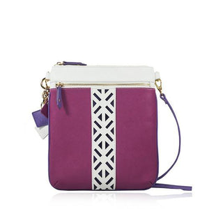 ClaudiaG Lily Cross Body- Sea Salt White/Watermelon