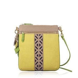 ClaudiaG Lily Cross Body- Tan/Canary Yellow