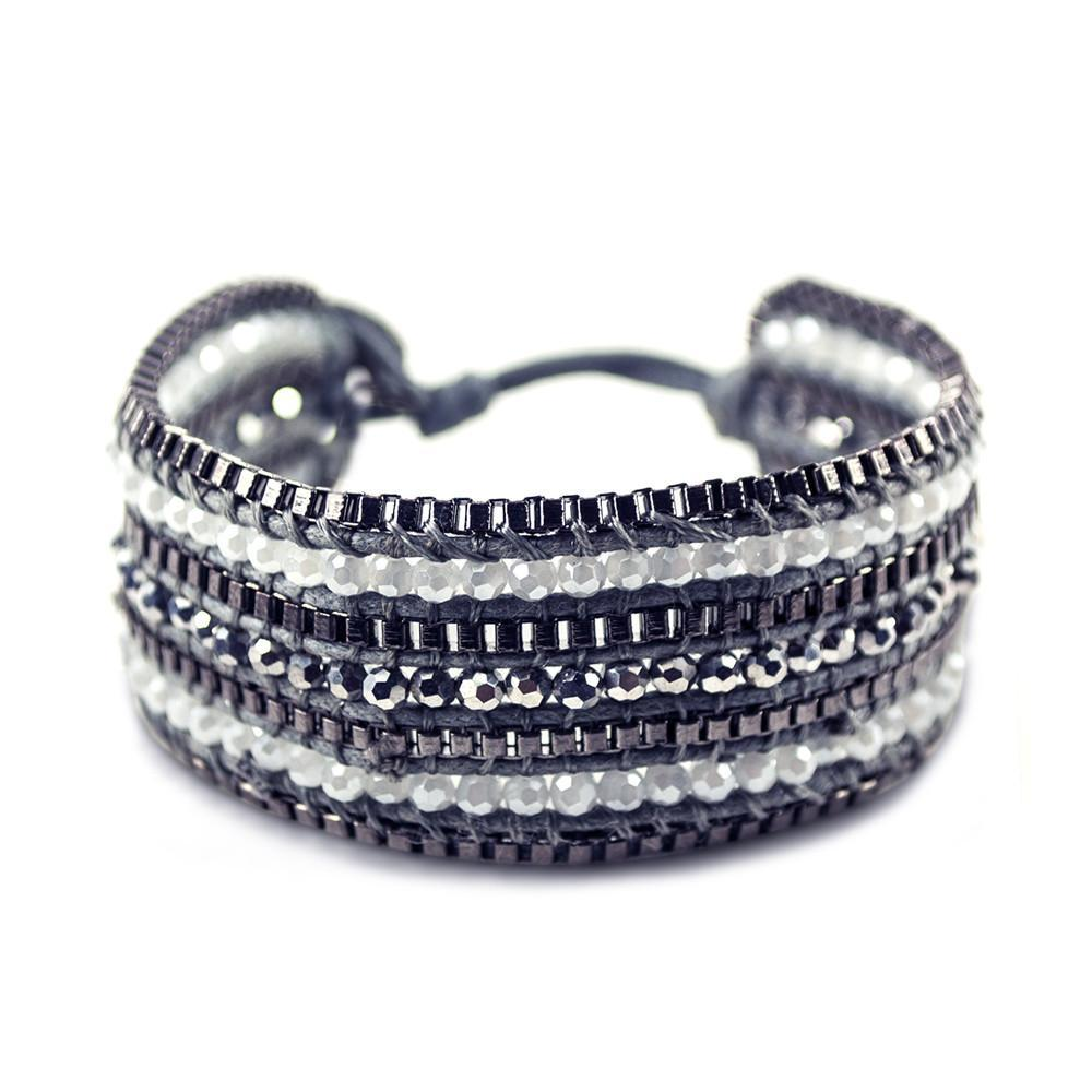ClaudiaG Looped Bracelet- Coal