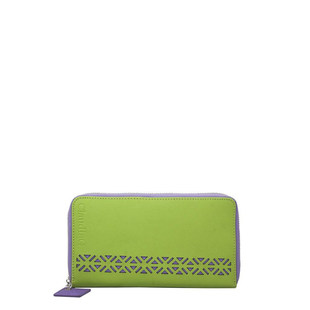 ClaudiaG Lotus Wallet-Lime Green/Plum
