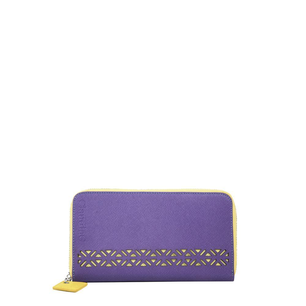 ClaudiaG Lotus Wallet-Plum/Canary Yellow