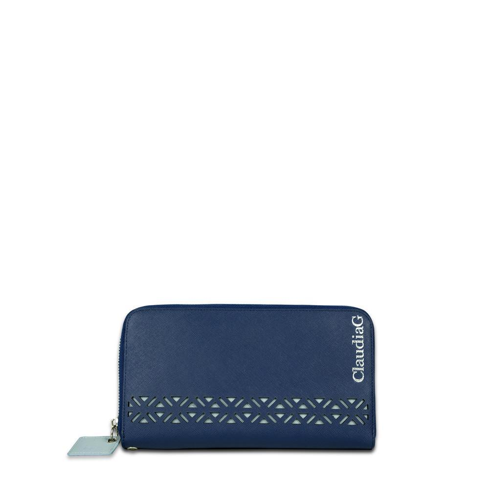 ClaudiaG Lotus Wallet-Sapphire/Charcoal