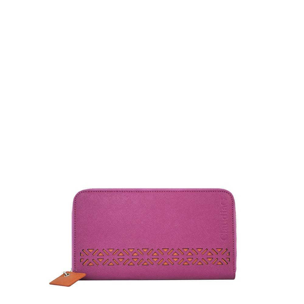 ClaudiaG Lotus Wallet-Watermelon/Orange