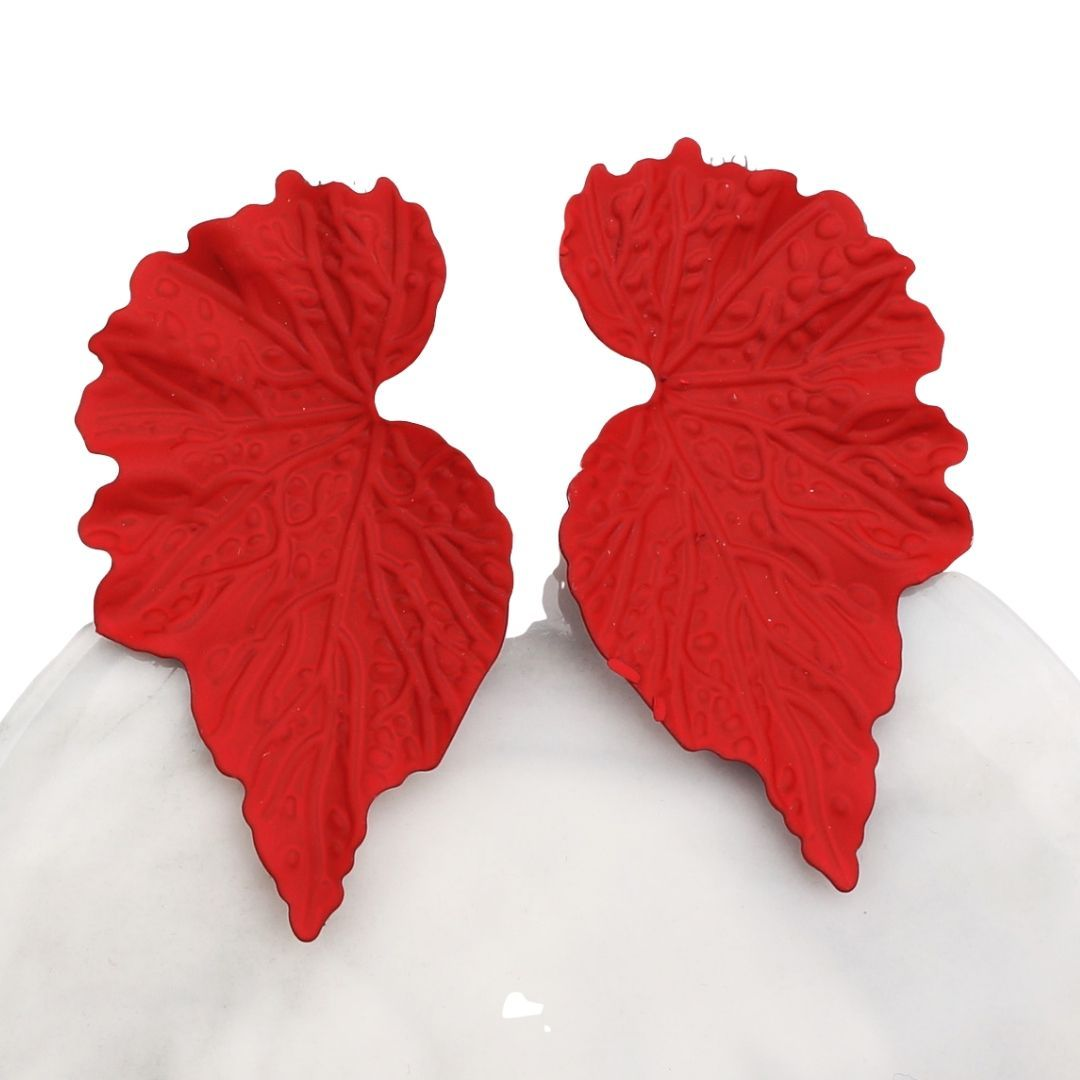 ClaudiaG Mirrored Leaf Earrings