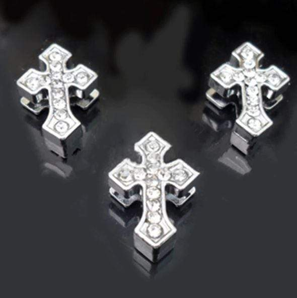 ClaudiaG Pavé Arrowed Cross -Silver Charm