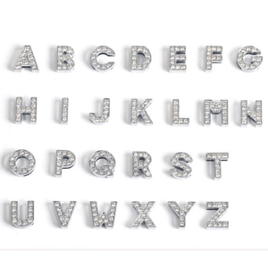 ClaudiaG Pavé Letters -Silver Charms