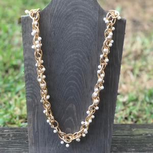 ClaudiaG Pearl Chain Necklace