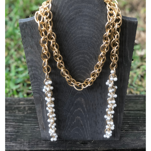 ClaudiaG Pearl Lattice Necklace