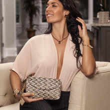 ClaudiaG Phoenix Clutch-Tan / Midnight Black