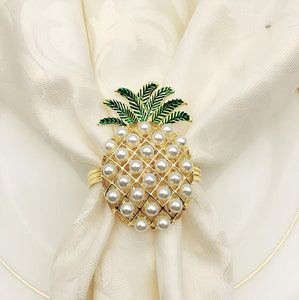 ClaudiaG Pineapple Napkin Ring Set