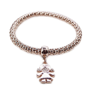ClaudiaG Qidz Bracelet- Girl Rose Gold
