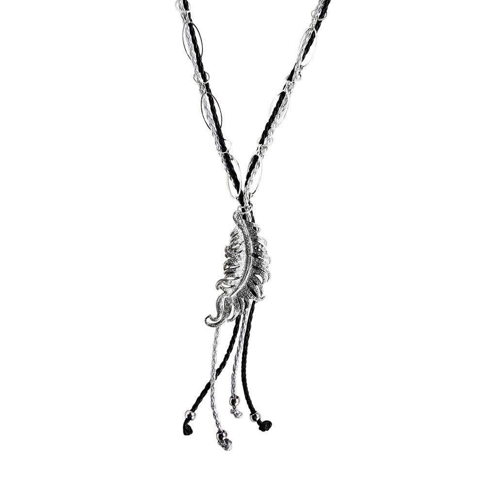 ClaudiaG Rodeo Bling Necklace- Silver
