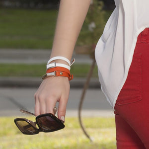 ClaudiaG Sash Bracelet- Orange