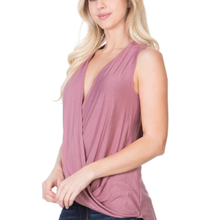 ClaudiaG Sleeveless Loose Top -Rose