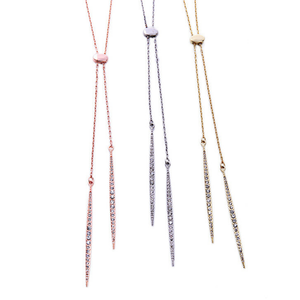 ClaudiaG Slim Lariat Necklace