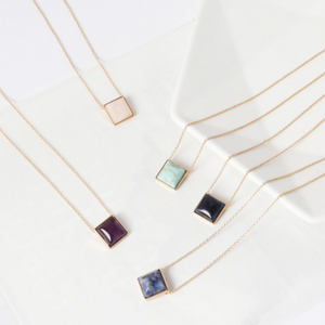 ClaudiaG Square Drop Necklace
