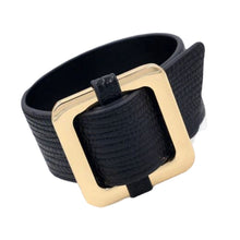 ClaudiaG Square Lock Bracelet -Black